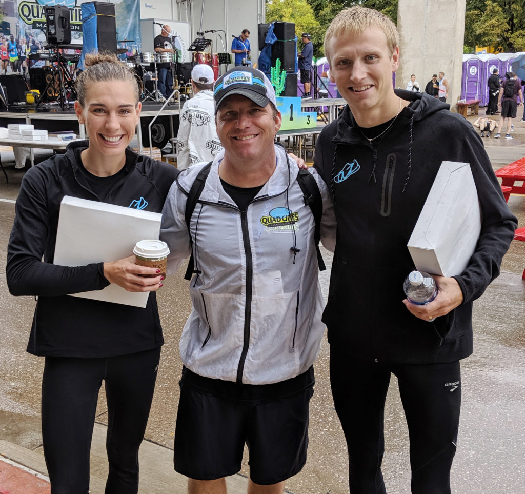 Quad Cities Marathon, Racing in the Rain, atozrunning.com, Ian Frink
