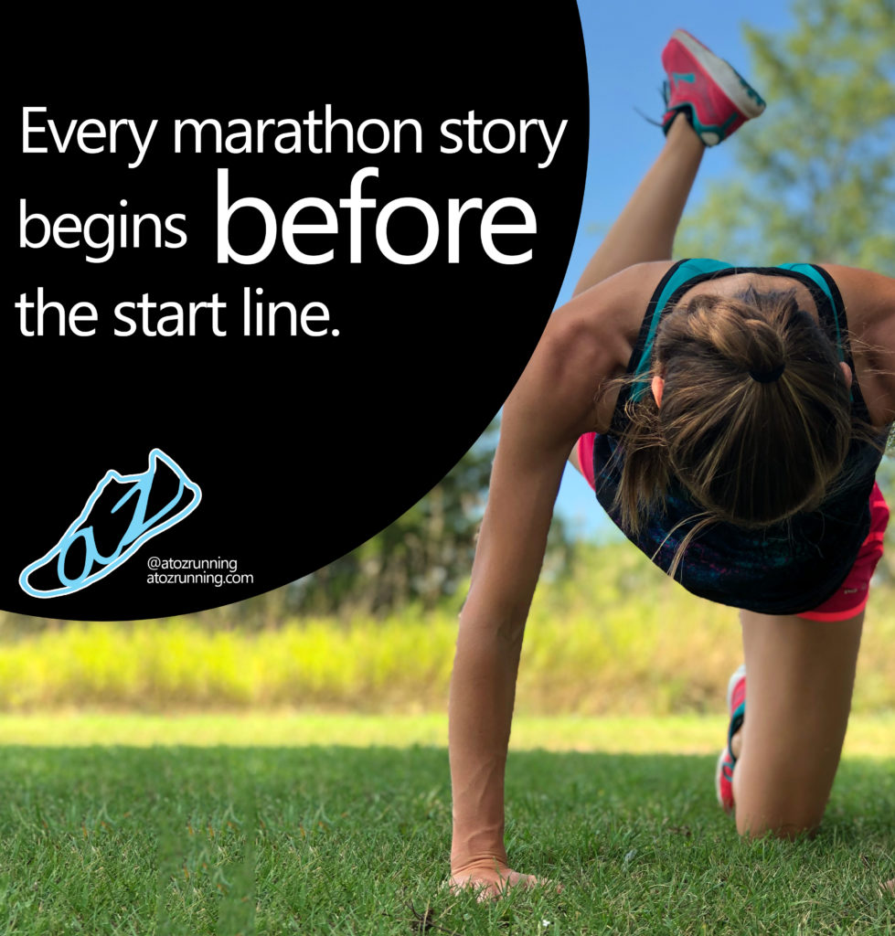 Every marathon story begins before the start line. atozrunning.com