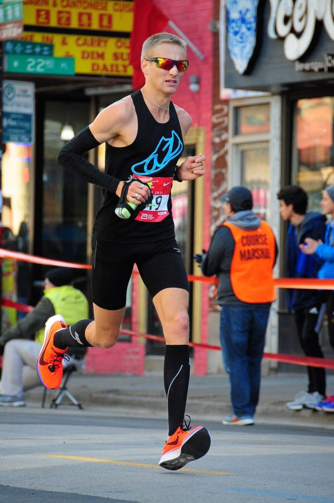 Zach Ripley at Chicago Marathon 2019