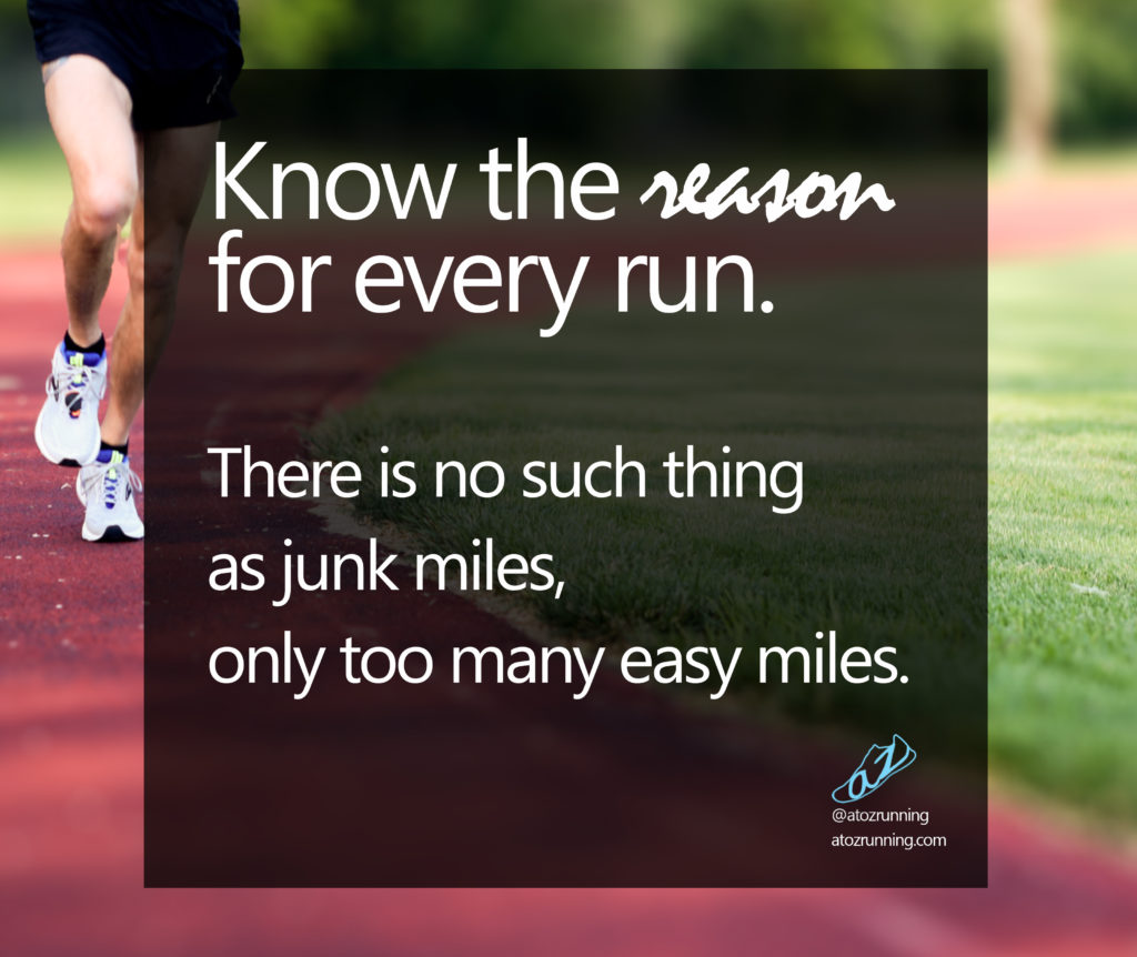 Know the reason for every run.
