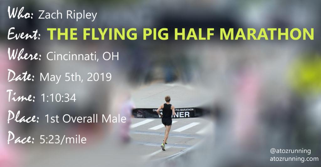 Zach Ripey Flying Pig Half Marathon 2019