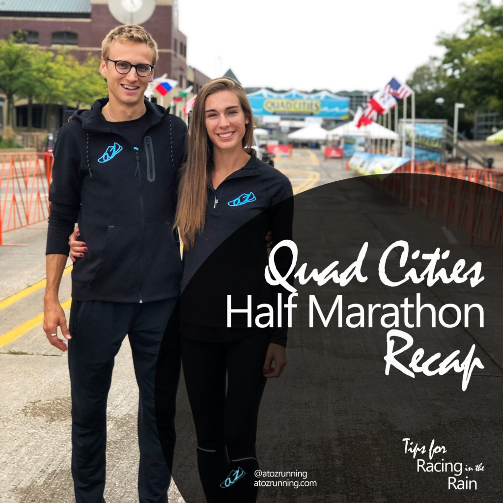 Quad Cities Marathon, Racing in the Rain, atozrunning.com