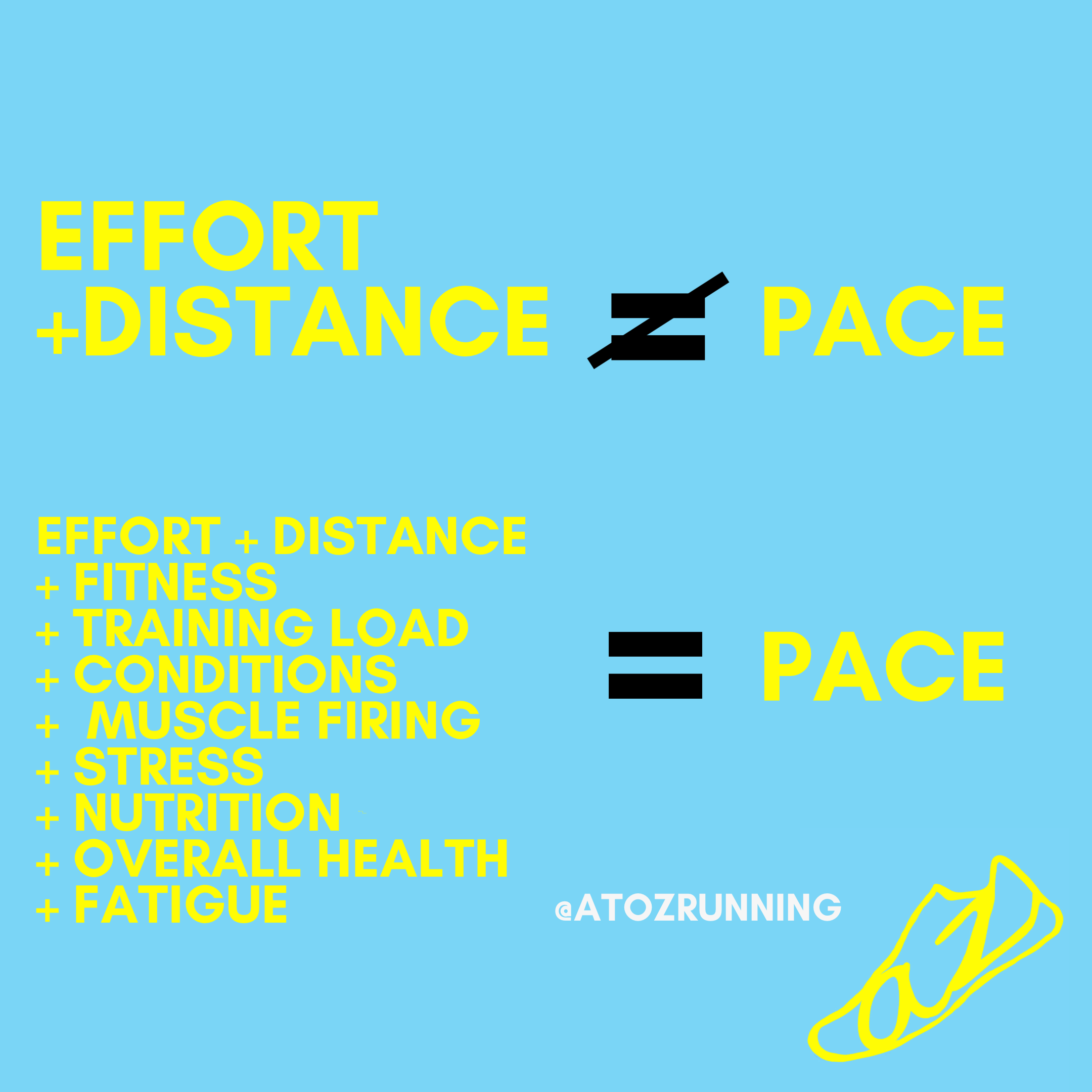 effort does not equal pace