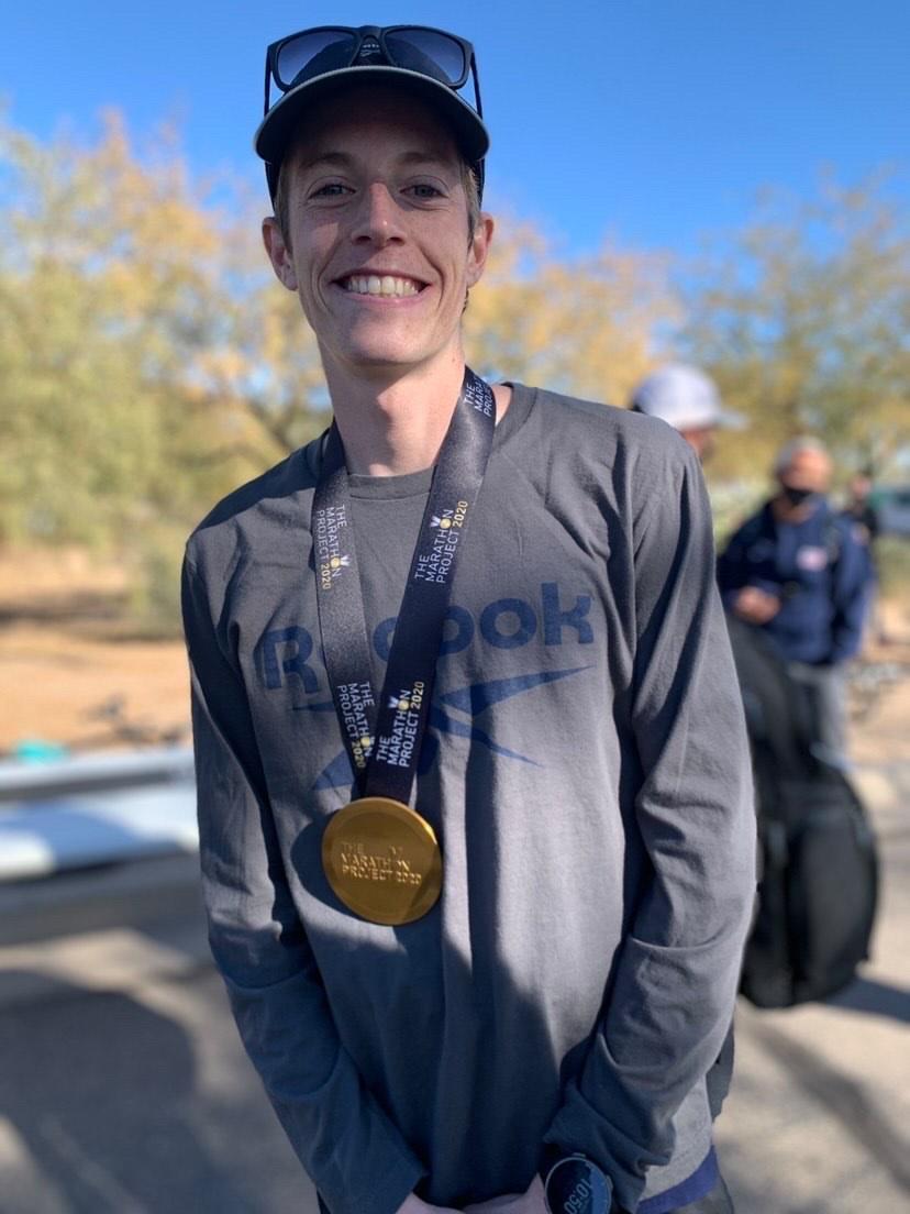 Martin Hehir winner of the Marathon Project