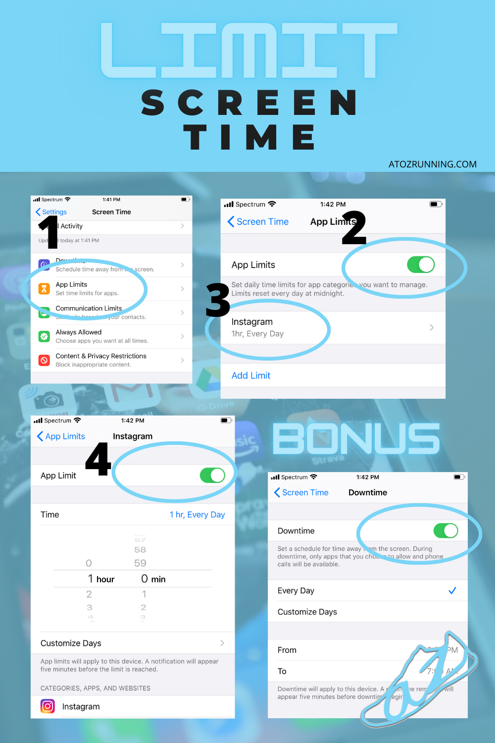 how to limit screen time on Apple